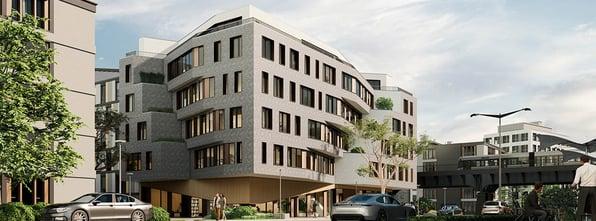 Modern building rendered in Enscape