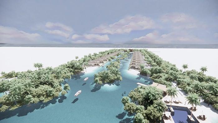 Enscape 3D airiel entry water community_700