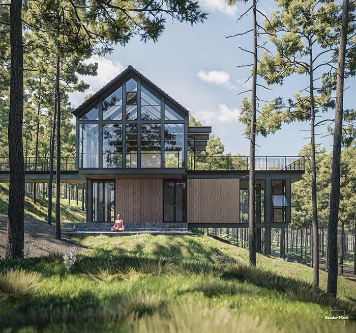 House in the woods landscape render Pablo Correa_700