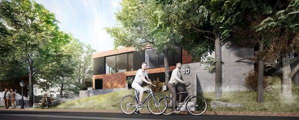 BIMCAP housing project render in Enscape