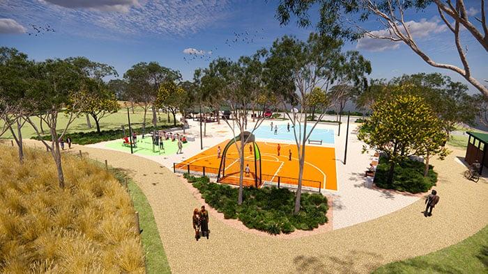 Recreation park landscape render Simon Bushell_700