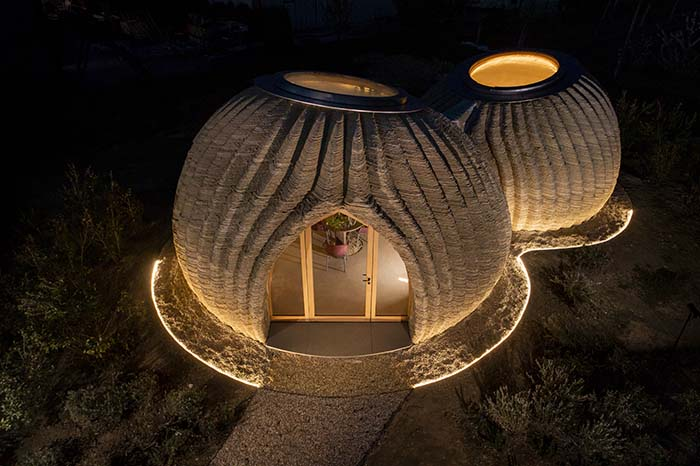 Tecla 3D printed house WASP + MCA night img1_blog
