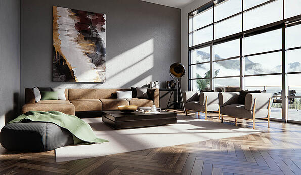 Interior designed in Vectorworks and Enscape