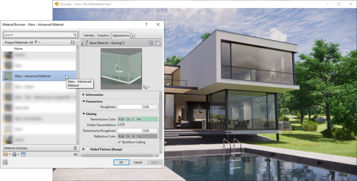 Advanced Glazing Material Revit