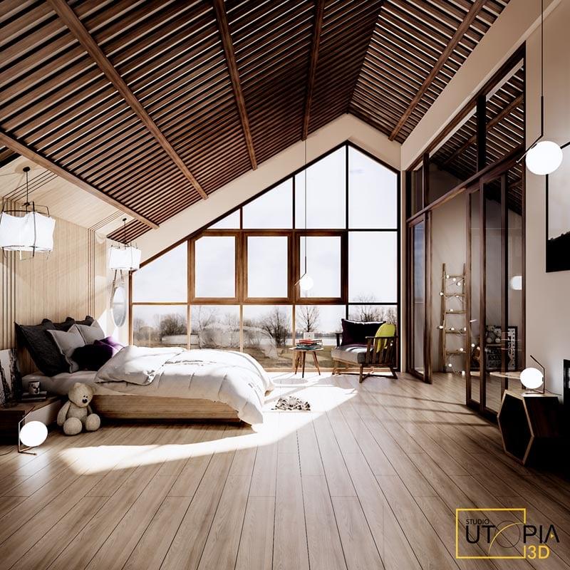 Architekturrendering, Beispiel für Beleuchtung