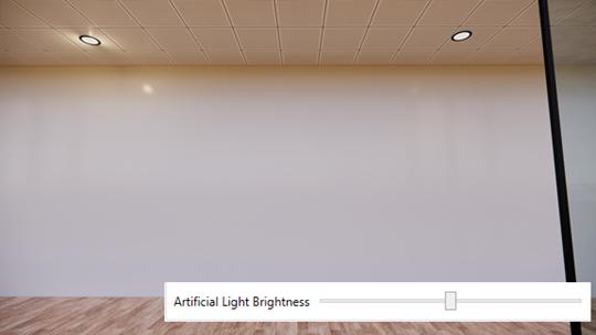 Artificial light brightness