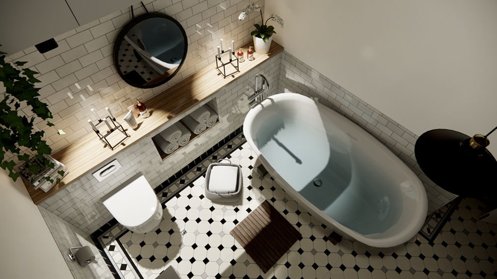Bathroom interior scene
