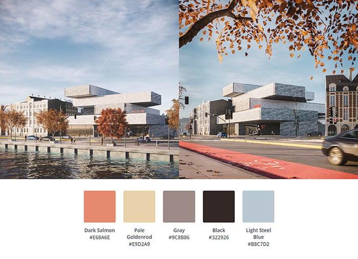 Color Palette - Enscape project 1-4-1
