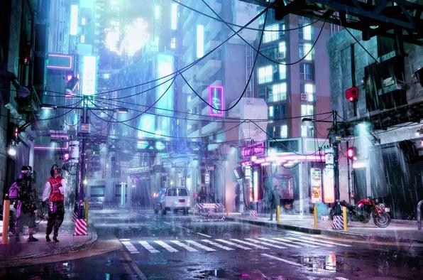 Cyberpunk render in Enscape