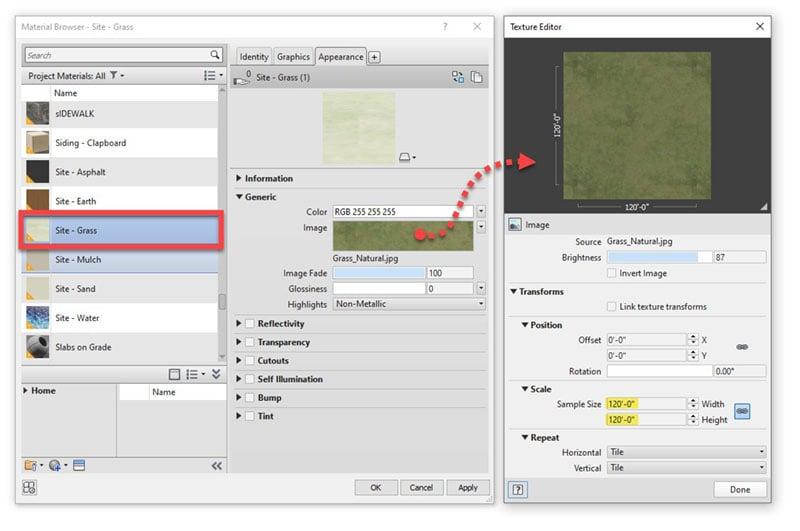 Grass Material Browser