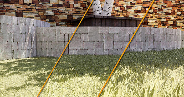 Grass height variation