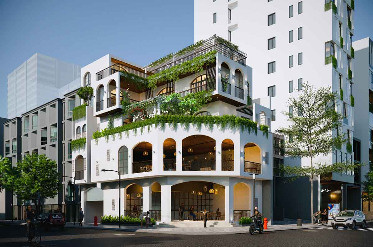 Hotel Buildling Render