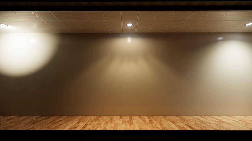 Interior lighting example