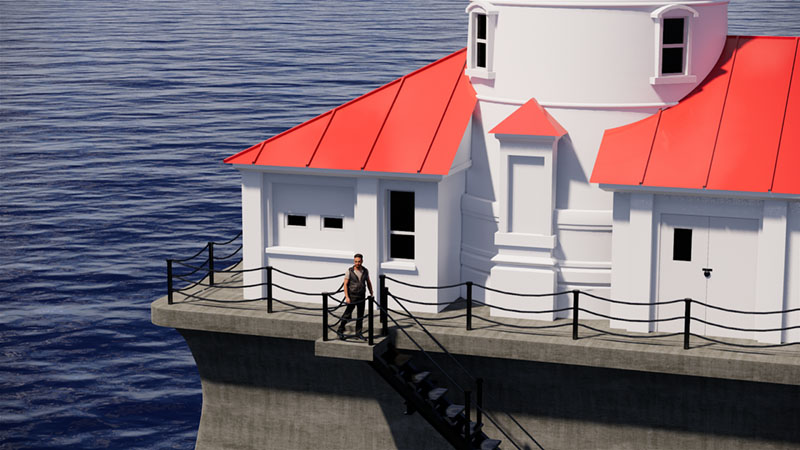 Lighthouse render in Rhino