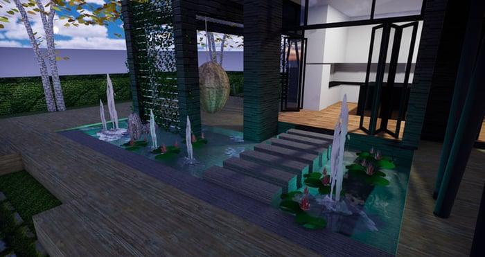 Night view render poor lighting example