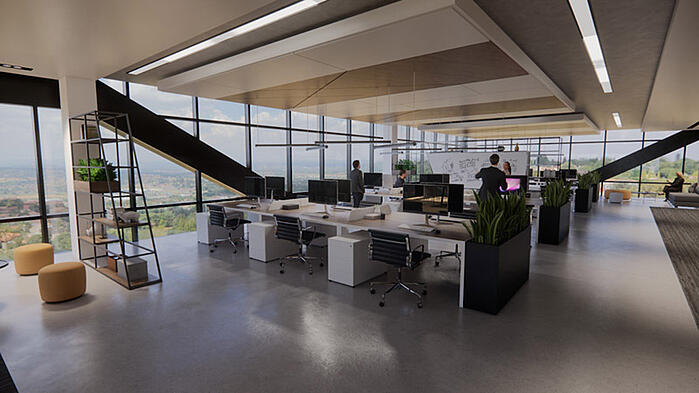 Office Render External Scene
