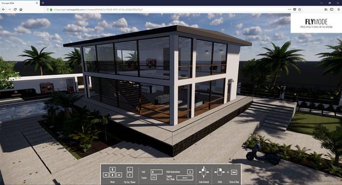Render of Modern House