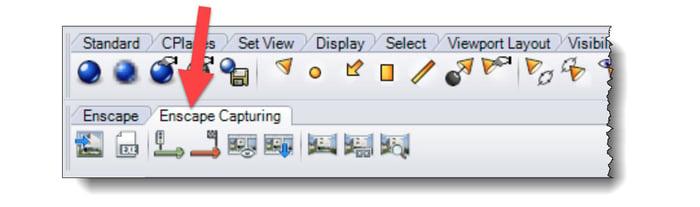 Rhino toolbar Enscape