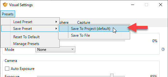Save to project