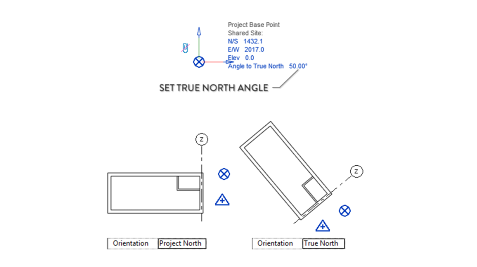 Set up true north angle2