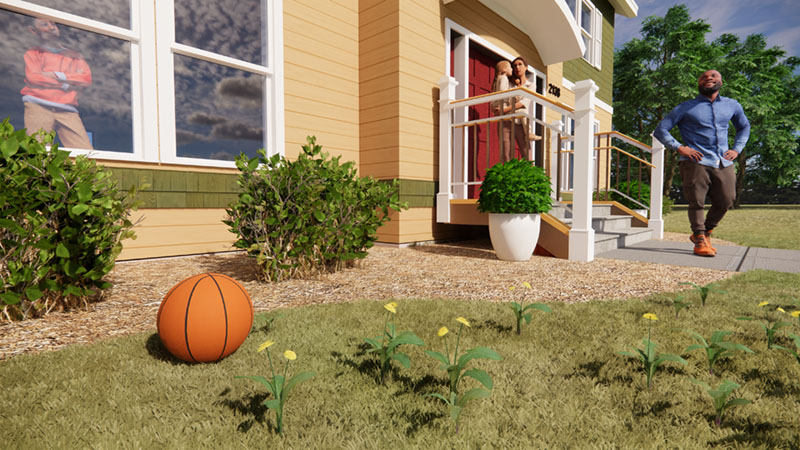 Short Grass in Revit and Enscape