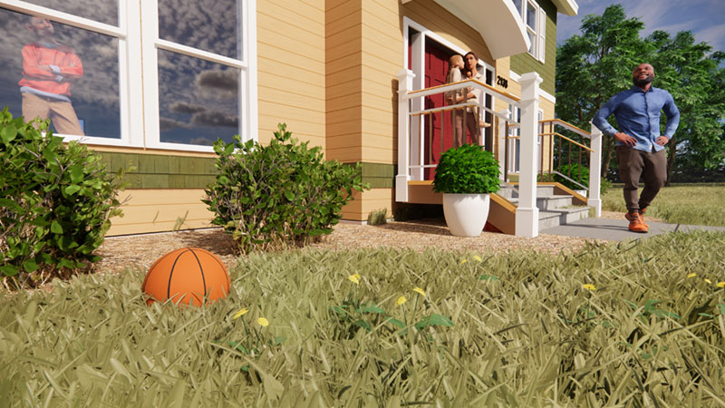 Tall Grass in Revit and Enscape