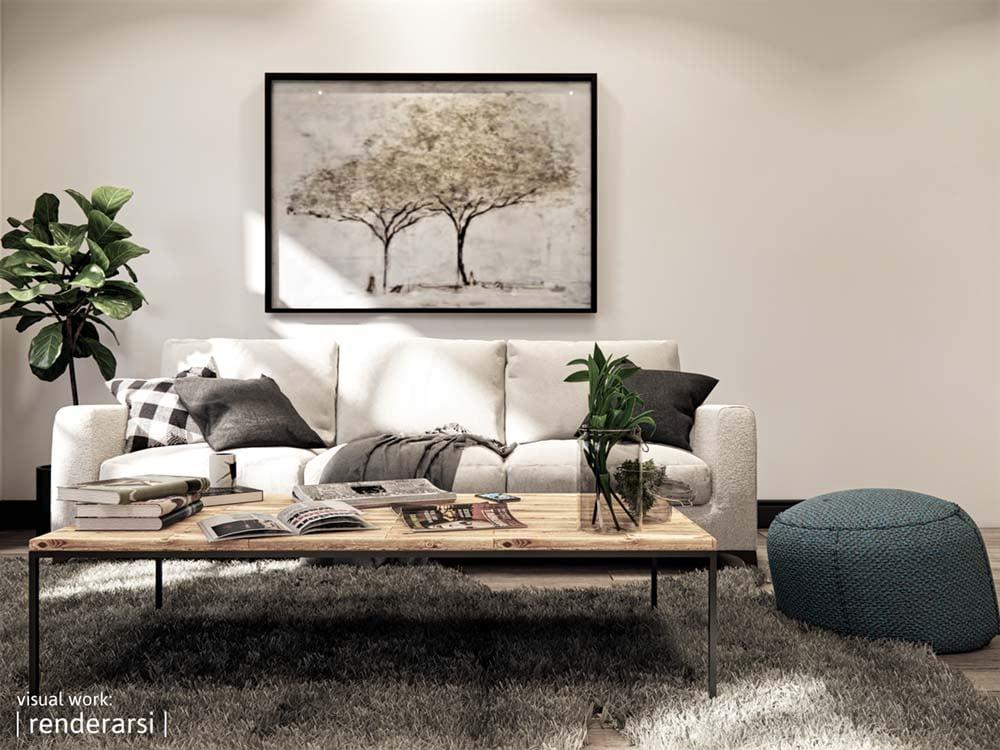 Textures interior render