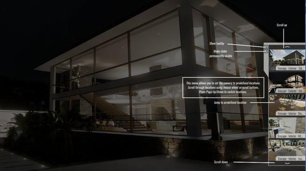 Tooltip overlay for presentation mode