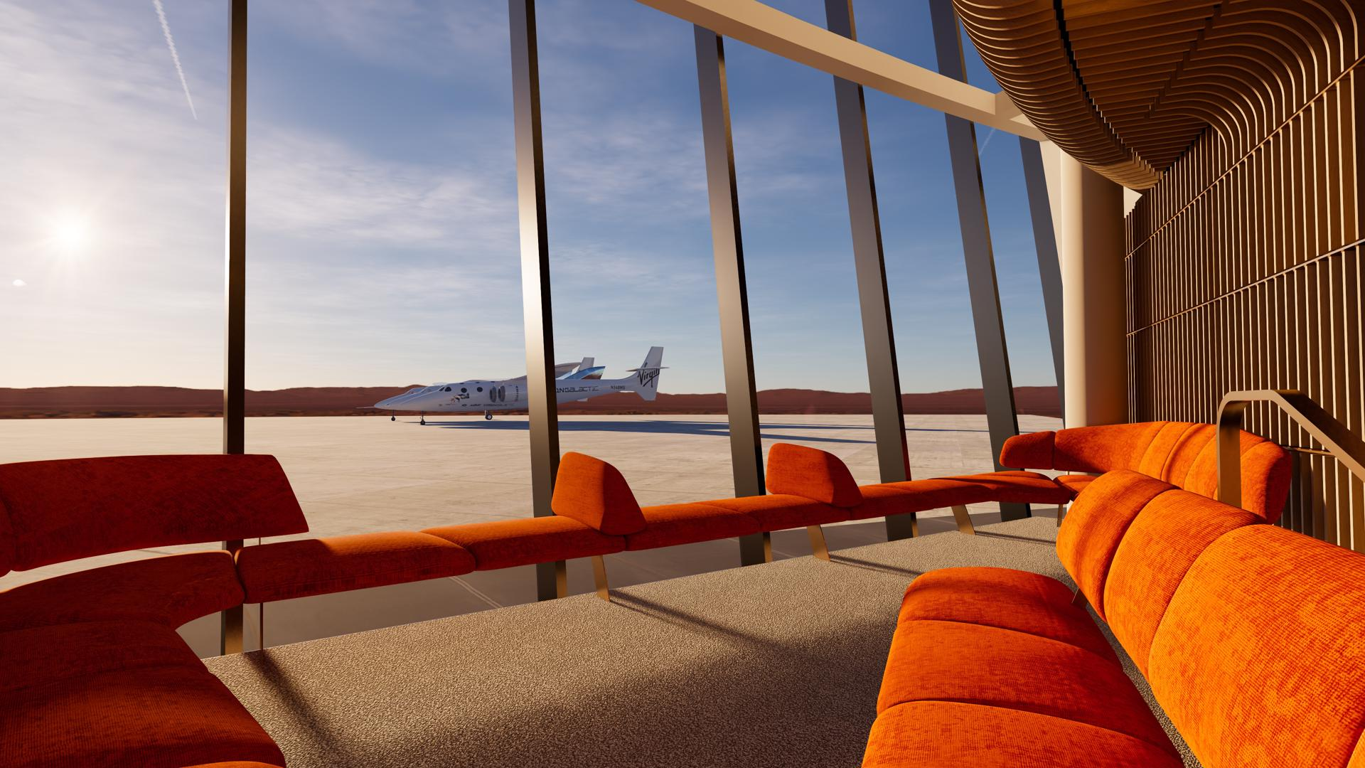 Viewport Studio Spaceport America window lounge