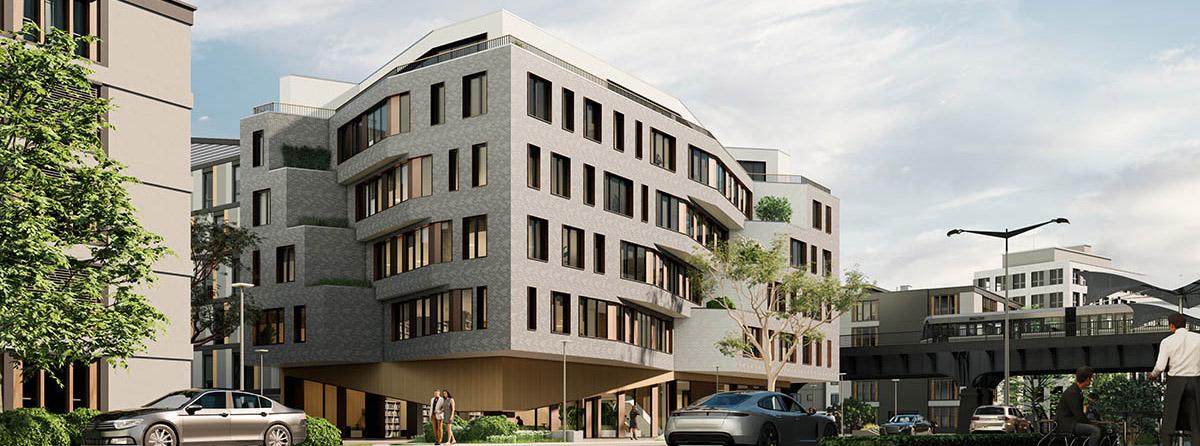 Modern building rendering