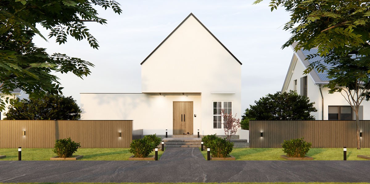 House rendered in Enscape