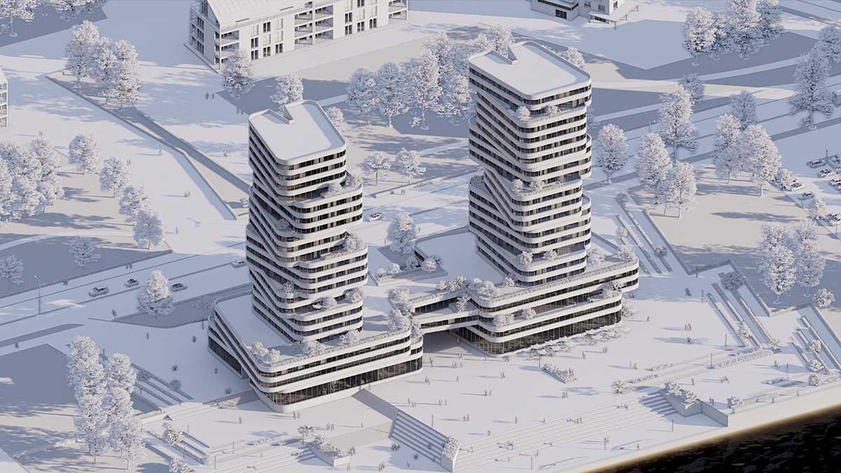 Revit model rendered in Enscape